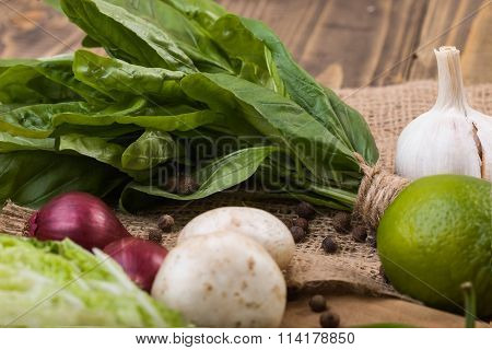 Basil With Different Vegetables