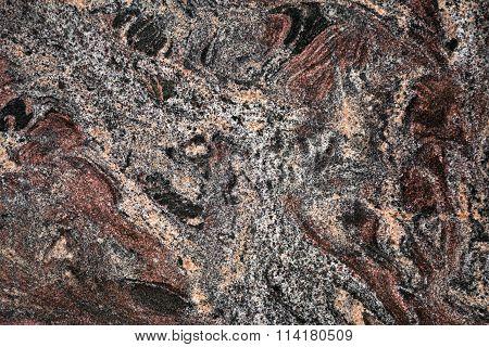 Dark marbled stone slab