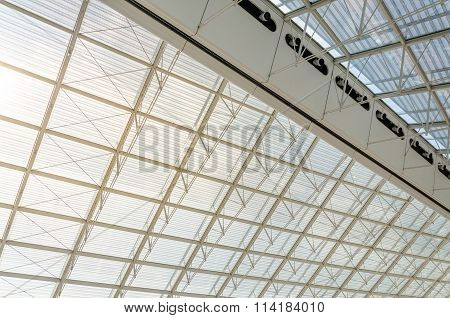 Paris, France - May 15, 2015: Futuristic Roof Structure Detail Of Charles De Gaulle Airport In Paris