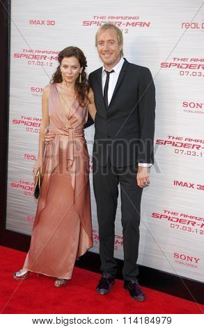 LOS ANGELES, CALIFORNIA - June 28, 2012. Rhys Ifans and Anna Friel at the Los Angeles premiere of
