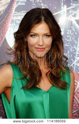 LOS ANGELES, CALIFORNIA - June 28, 2012. Tricia Helfer at the Los Angeles premiere of