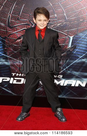 LOS ANGELES, CALIFORNIA - June 28, 2012. Max Charles at the Los Angeles premiere of