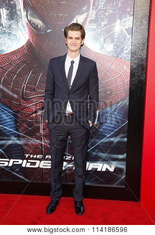 LOS ANGELES, CALIFORNIA - June 28, 2012. Andrew Garfield at the Los Angeles premiere of