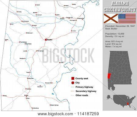 Alabama Choctaw County Map