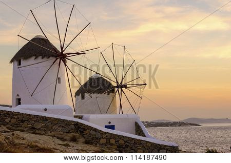 Mykonos Windmills, Chora, Greece