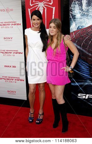 Janice Dickinson and Savannah Dickinson at the Los Angeles premiere of