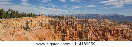 Panorama Of The Amphitheater In Bryce Canyon