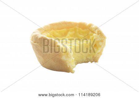 Bite Egg Custard Tart Sweet Dessert