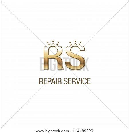 Premium repair service vector logo
