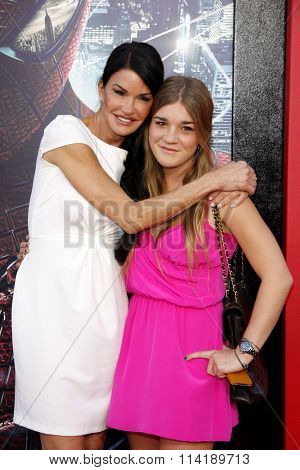 LOS ANGELES, CALIFORNIA - June 28, 2012. Janice Dickinson and Savannah Dickinson at the Los Angeles premiere of