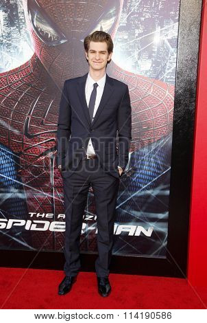 Andrew Garfield at the Los Angeles premiere of