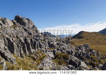 Karst formation in Kahurangi National Park