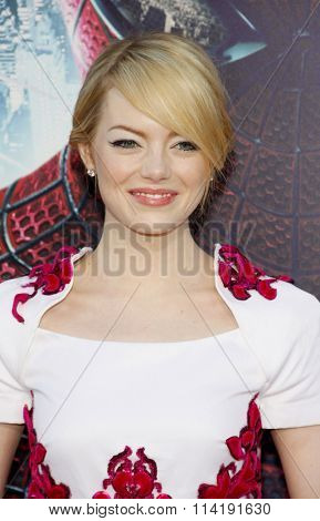 Emma Stone at the Los Angeles premiere of