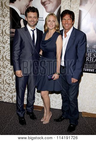 HOLLYWOOD, CALIFORNIA - May 18, 2010. Michael Sheen, Hope Davis and Dennis Quaid at the Los Angeles premiere of
