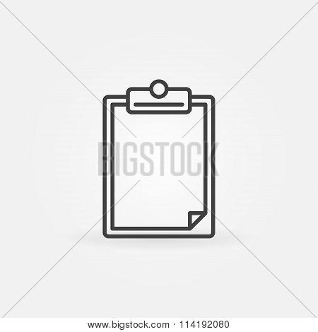 Blank clipboard icon or logo