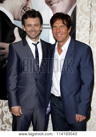 HOLLYWOOD, CALIFORNIA - May 18, 2010. Michael Sheen and Dennis Quaid at the Los Angeles premiere of