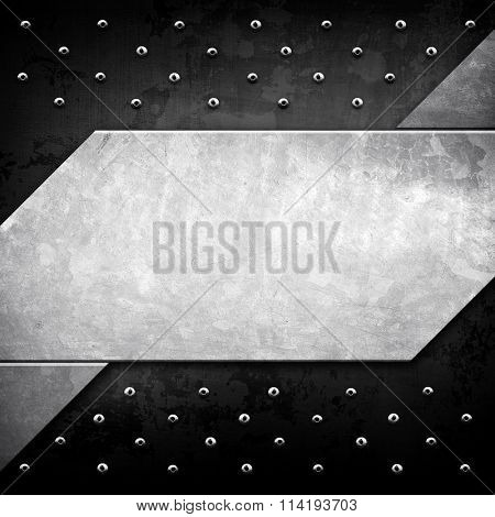 metal template with tack background