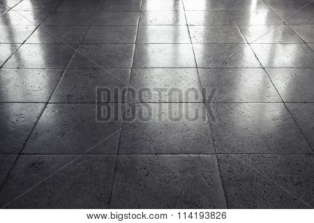 Shining Gray Stone Floor Tiling, Background