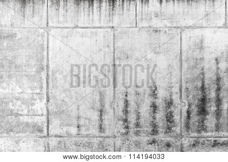Old Rough Gray Concrete Wall, Background Texture