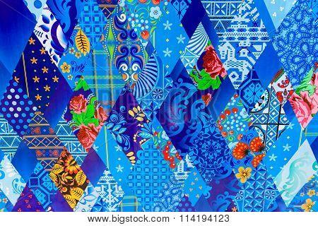 Bright Multi-colored Material