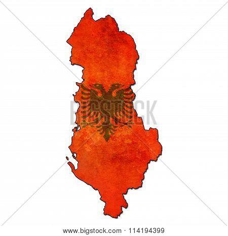 Albania Territory With Flag