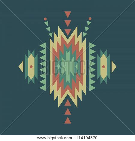 Vector seamless colorful decorative ethnic pattern. Boho style
