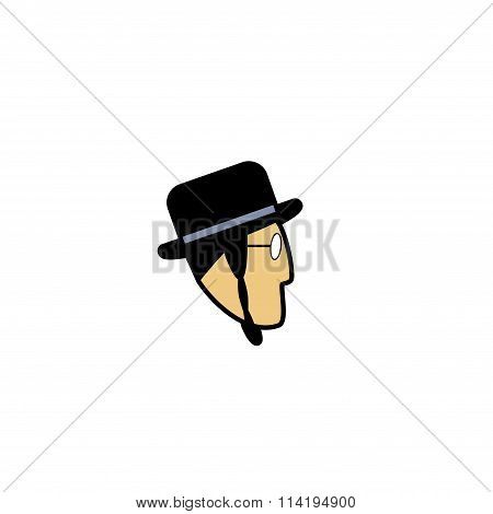 Vector avatar of Jew man