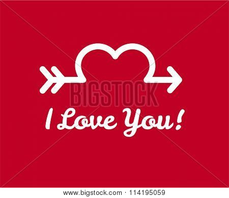 Valentines day greeting card design. Valentine background with heart. Valentine hearts greeting card vector illustration. Valentine day, wedding, lova and romance