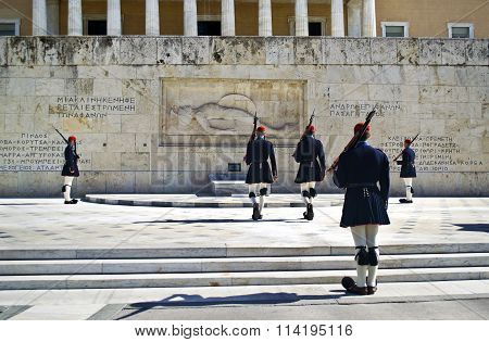 greek evzones in Athens
