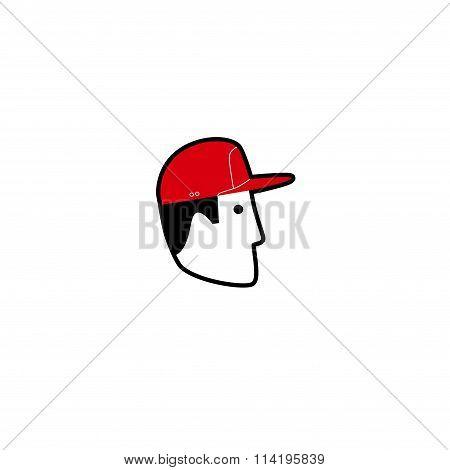 Vector avatar of American man