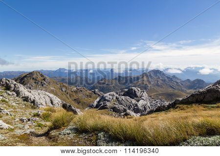 View from Mount Owen in Kahurangi National Park