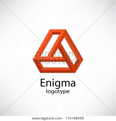 Enigma. Abstract  impossible shapes
