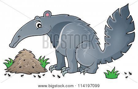 Anteater theme image 1 - eps10 vector illustration.