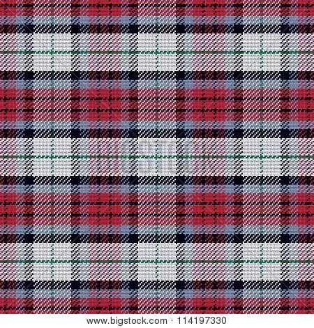 vector seamless pattern Scottish tartan black