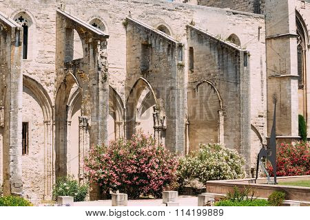 Ancient Old Christian temple St Martial in Avignon, France