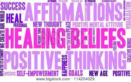 Healing Beliefs Word Cloud