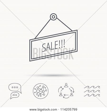 Sale icon. Advertising banner tag sign.