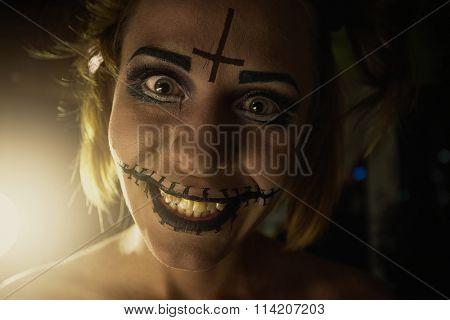Horrible girl portrait