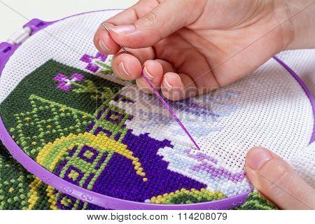 Cross-stitch, Handmade, needlework