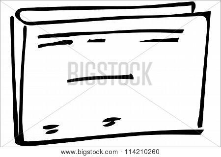 Vector Sketch Paper Folder Office