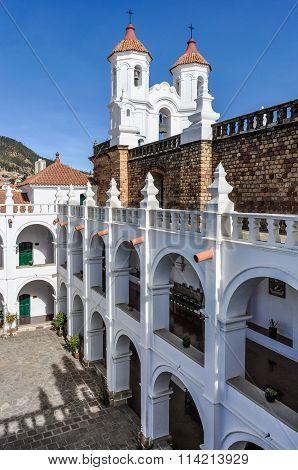 Vertical Shot Of Felipe Neri Monastery, Bolivia