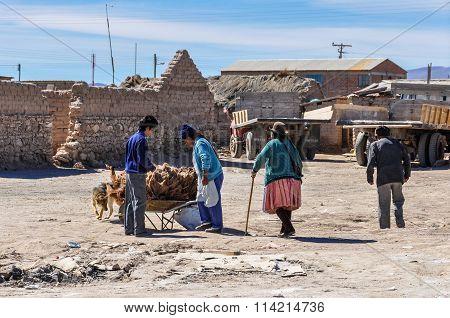 Local Village  Near Salar De Uyuni, Bolivia
