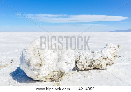 Chunk Of Salt In Salar De Uyuni, Bolivia