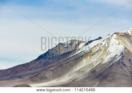 View Of A Volcano In The High Andean Plateau, Bolivia
