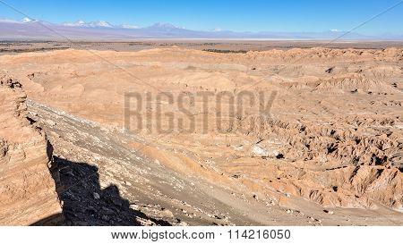 Moon Valley View In The Atacama Desert, Chile