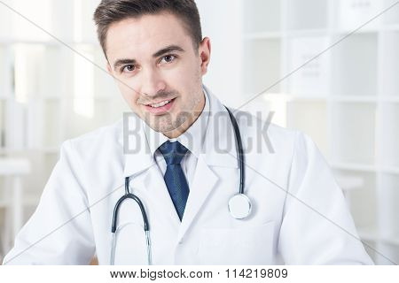 Elegant Physician In Duster