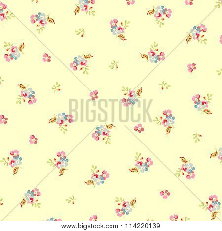 Beautiful Floral Pattern With Small Flowers