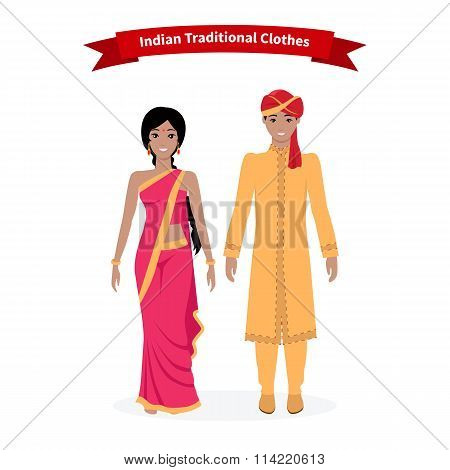 Indian Traditional Clothes People