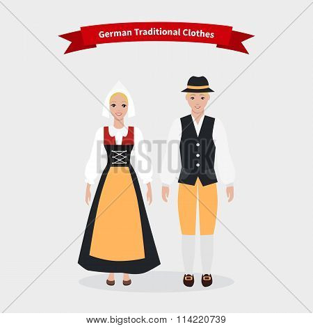 German Traditional Clothes People
