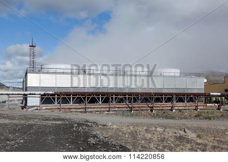 Mutnovskaya Geothermal Power Station On Kamchatka